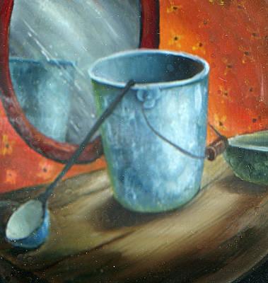 Granite Painting - Granite Bucket Reflections by Doreta Y Boyd