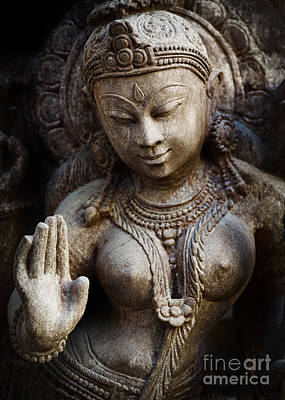 Hindu Goddess Photograph - Granite Indian Goddess by Tim Gainey