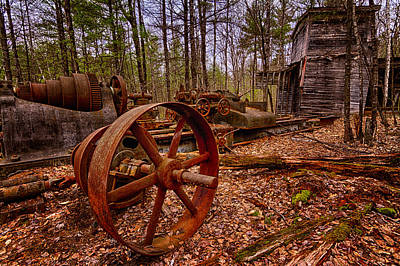 Photograph - Granite Lathe Abandoned Redstone Quarry Conway Nh by Jeff Sinon