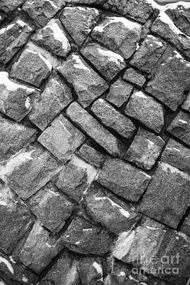 Photograph - Granite Wall Black And White Abstract by Glenn Gordon