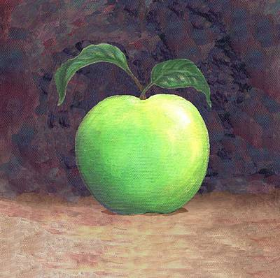 Granny Smith Apple Two Art Print by Linda Mears