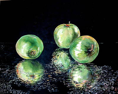 Painting - Granny Smith by Iya Carson