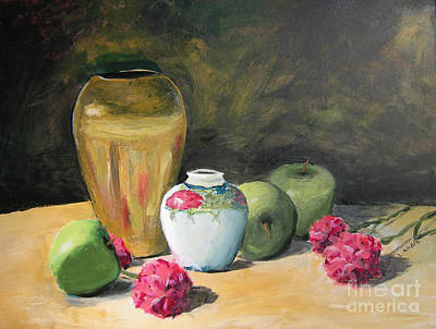Painting - Granny's Apples by Lilibeth Andre