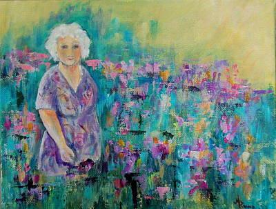 Painting - Granny's Garden by Maureen Pisano