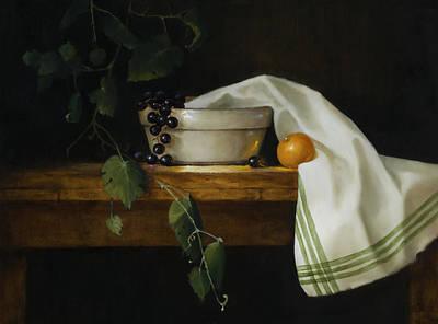 Granny's Mixing Bowl Print by Barbara A Jones