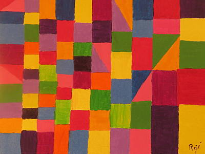 Painting - Granny's Quilt by Ronald Weatherford