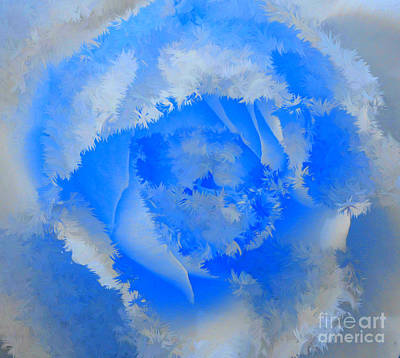 Digital Art - Granny's Rose Colorful by Holley Jacobs