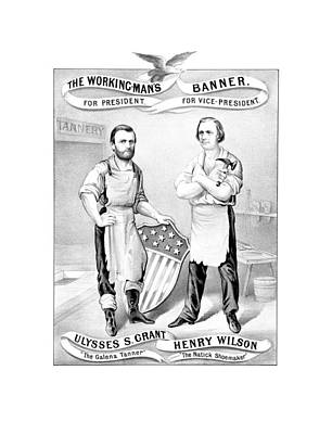Grant And Wilson 1872 Election Poster  Art Print