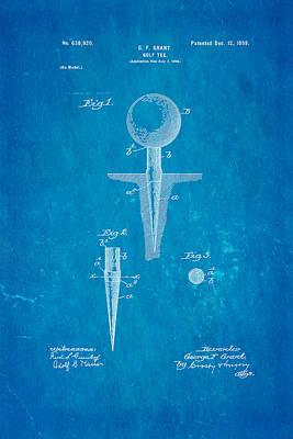 1899 Photograph - Grant Golf Tee Patent Art 1899 Blueprint by Ian Monk