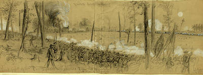 Pennsylvania Drawing - Grants Great Campaign, Last Fight Of The Pennsylvania by Quint Lox