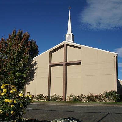 Photograph - Grants Pass First Christian Churct by Mick Anderson
