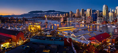 Winter Night Photograph - Granville Island Public Market by Alexis Birkill