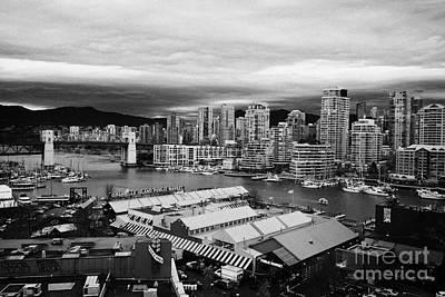 Granville Island Photograph - granville island public market and false creek waterfront Vancouver BC Canada by Joe Fox