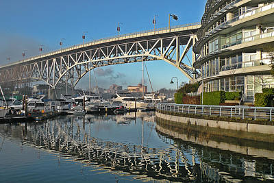 Photograph - Granville Street Bridge by Brian Chase