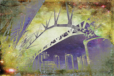 Granville Street Bridge - Inside Out Art Print