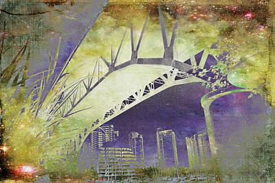 Granville Street Bridge - Inside Out Art Print by Kathy Bassett