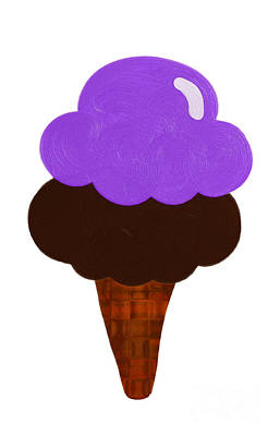 Digital Art - Grape And Chocolate Ice Cream by Andee Design