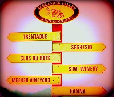 Directional Signage Photograph - Grape Country by Antonia Citrino