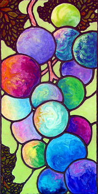 Grapeleaves Painting - Grape De Chine by Sandi Whetzel
