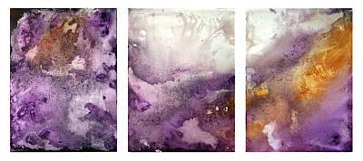 Grape Impressions Original Madart Painting Art Print by Megan Duncanson