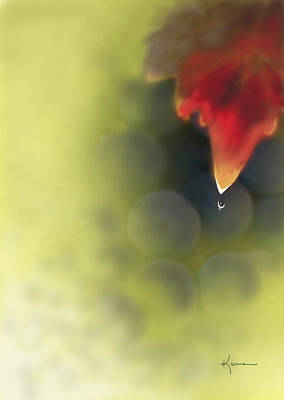 Photograph - Grape Leaf Water Drop by Kume Bryant