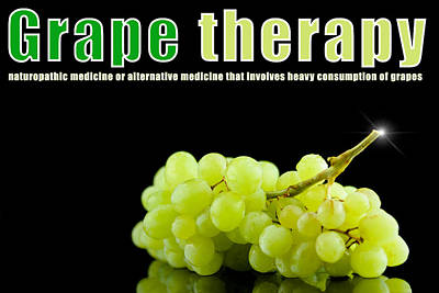 Grape Therapy Art Print by Tommytechno Sweden