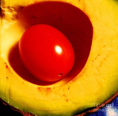 Avocado Photograph - Grape Tomato And Avocado by Nancy Mueller
