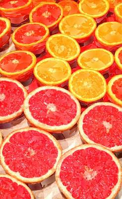 Grapefruit Painting - Grapefruit And Oranges by Chris Butler