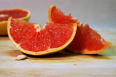 Photograph - Grapefruit Slices by Joseph Skompski