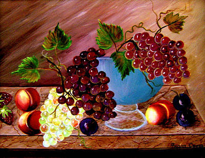Painting - Grapefully Your's by Fram Cama