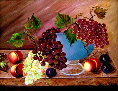 Grapefully Your's Art Print by Fram Cama