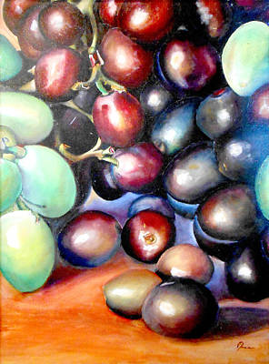Painting - Grapes 2 by Robert Foss