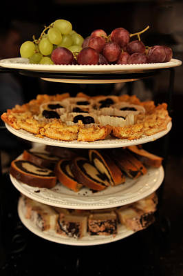Photograph - Grapes And Various Cakes by Marek Poplawski