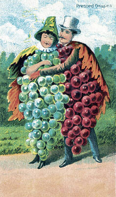 Photograph - Grapes, Bufford Fruit Card, 1887 by Science Source