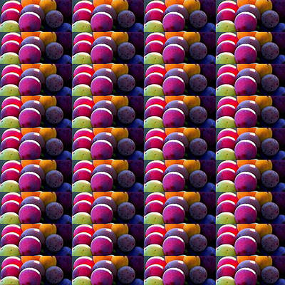 Photograph - Grapes Fruit Pattern Health Background Designs  And Color Tones N Color Shades Available For Downloa by Navin Joshi
