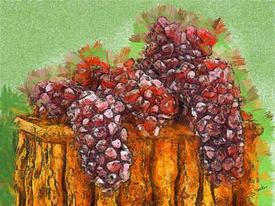 Grapes Art Print by George Rossidis