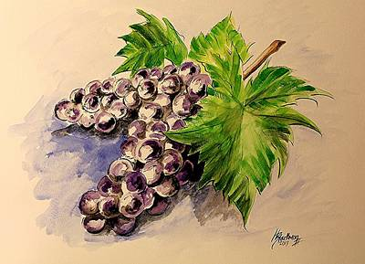 Painting - Grapes by Henry Blackmon