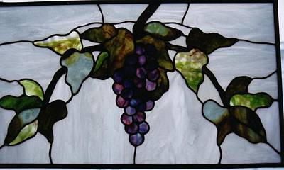 Glass Art - Grapes by Karin Thue