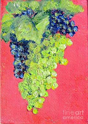 Painting - Ripening Grapes  by Laurie Morgan