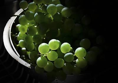 Grapes And Silver Art Print by Rae Ann  M Garrett