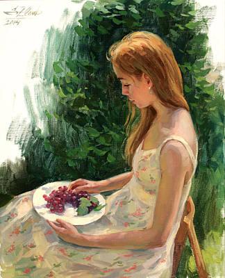Painting - Grapes by Serguei Zlenko