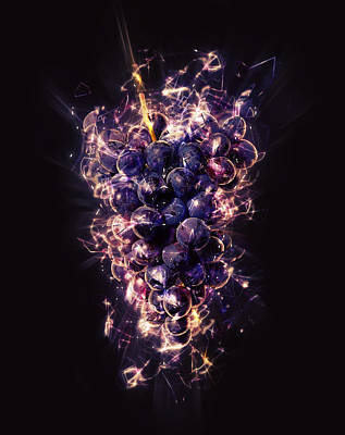 Healthy Eating Mixed Media - Grapes by Stockr