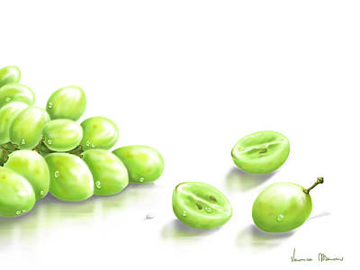 Grapes Painting - Grapes by Veronica Minozzi