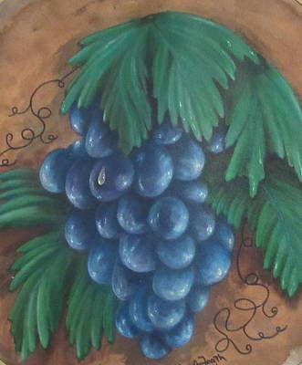 Painting - Grapes With Dewdrop by Ashley Goforth