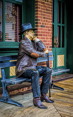 Robert Bellomy Royalty-Free and Rights-Managed Images - Grapevine Cowboy by Robert Bellomy