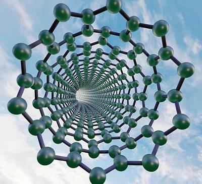 Graphene Nanotube Art Print by Robert Brook