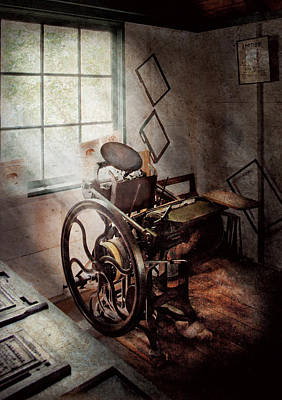 Photograph - Graphic Artist - The Humble Printing Press by Mike Savad