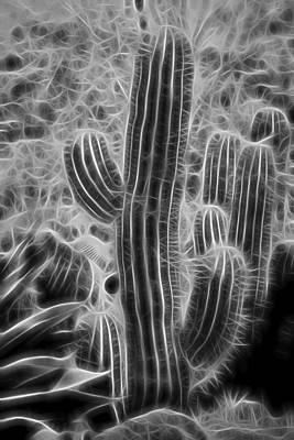 Graphic Cactus Art Print
