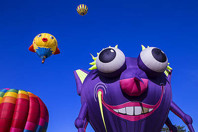 Photograph - Graphic Hot Air Balloons by Garry Gay