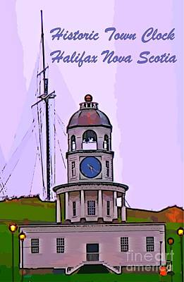 Halifax Town Clock Photograph - Graphic Image Of Halifax Town Clock by John Malone Halifax Graphic Art